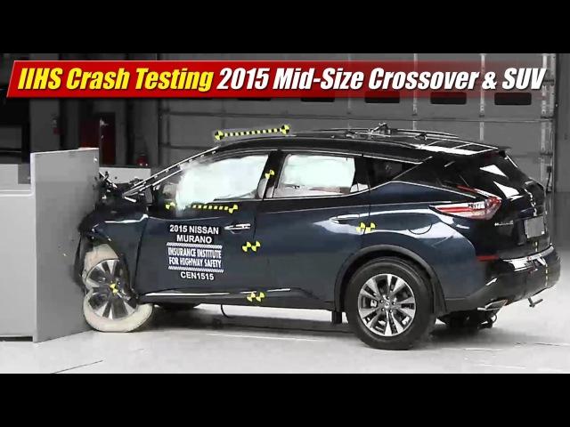 IIHS Crash Testing: 2015 Mid-Size Crossover SUV
