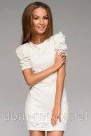 Молочное платье с кружевом