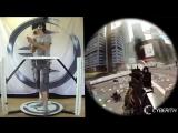 Battlefield 4 в системе виртуальной реальности Cyberith Virtualizer и шлеме Oculus Rift