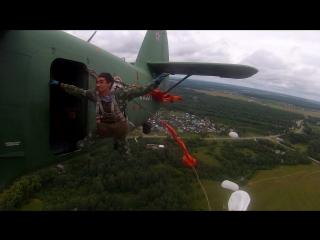 2 августа 2015 года Прыжок Кировских парашютистов-десантников с Ан-2 высота 150 метров. День ВДВ-показуха