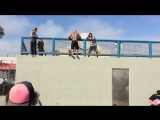 Working out at the Muscle - Venice beach