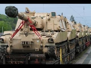 Эшелоны НАТОвских танков идут к Российским границам, Военная Тайна,  документальные фильмы (2015)