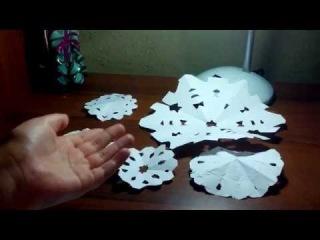 Оригами №6. Снежинки. Новогодние оригами. Ксения Ангел