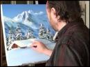 Живопись.Как рисовать снег.уроки рисования.oil painting