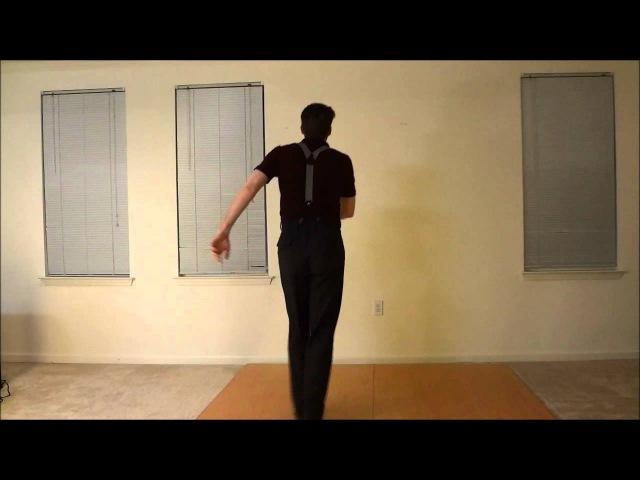 How to 1920s FLAPPER CHARLESTON (Solo Jazz Vocab 1) (Fortnite dance)