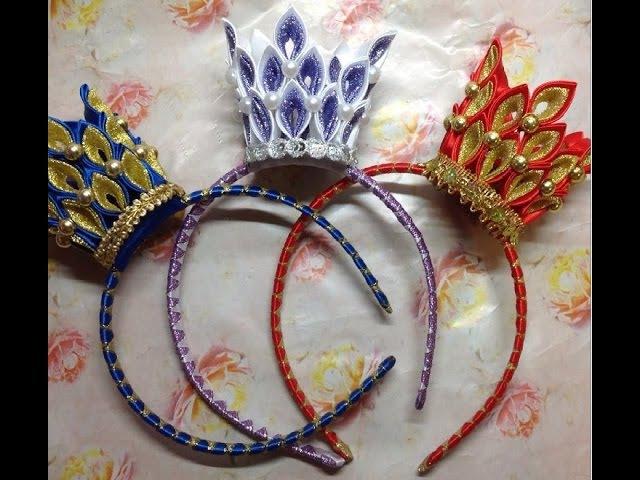 Новогодняя корона канзаши мастер класс фото