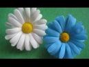 Цветы из фоамирана ромашки МК How to make Foam Flower camomile DIY Tutorial Foam