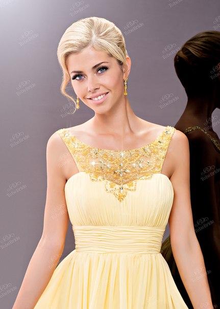 Платье с юбкой из стекляруса