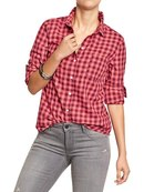 Plaid Flannel Shirts For Womens