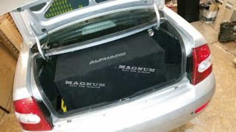 2 х Alphard Magnum M12 в Lada Priora в корпусе от Decibel