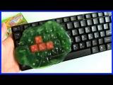 Лизун для чистки клавиатуры чистильщик Распаковка посылки с Aliexpress Super Clean Slimy Gel
