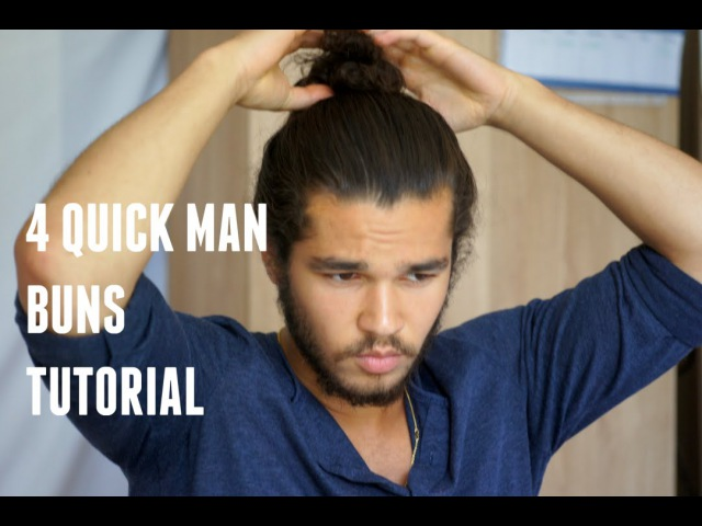 4 quick Man Buns Tutorial | Kithera Danso