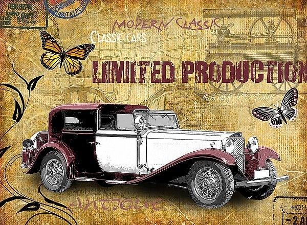 Картинки ретро автомобилей для скрапбукинга