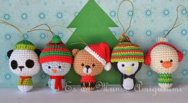 Вязание крючком игрушки новогодние фото