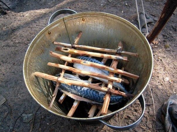 Коптильня для рыбы своими руками из ведра 39