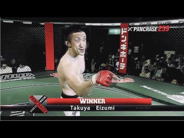 EPIC Funny MMA winning Face Takuya Eizumi HD