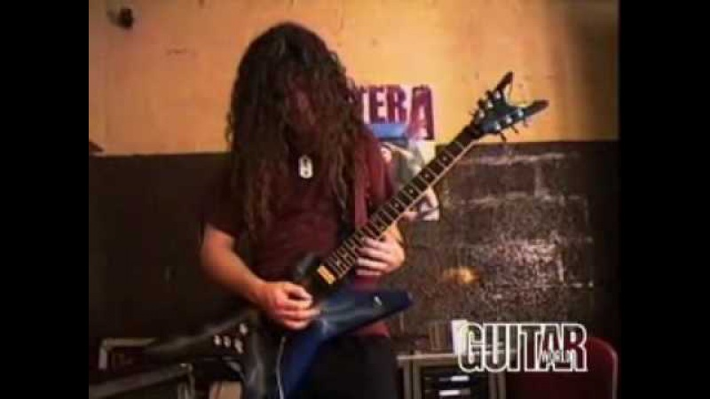 Dimebag Darrell playing solos with Dean Guitar