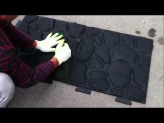 Резиновая плитка своими руками