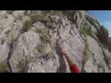 Альпинизм в Крыму. Форос, ФРИ-соло на маршруте Контрфорс Филатовой, 3б, 27 минут.