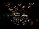 Ночной заход во внуково B 737NG