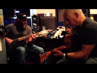 Jack Shawde and Randy Kohrs - jamming at Randy's studio