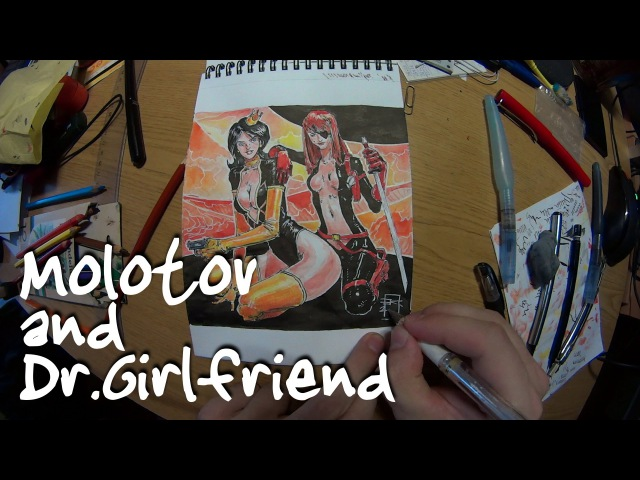 Dr. Girlfriend and Molotov Cocktease (Speed Drawing)