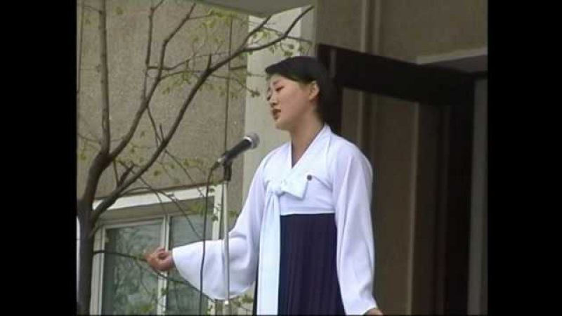 Russian Song by a non-professional North Korean Singer