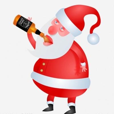 Дед мороз с бутылкой картинка