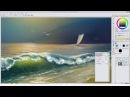 Этюд в Clip Studio Paint по уроку живописи маслом «Закат на море»