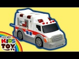 Ambulance. Dickie Toys. The toy car for boys. Open the box and make an overview
