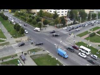 Таксист по тротуару! - демо с новой, 39-й IP-камеры проекта