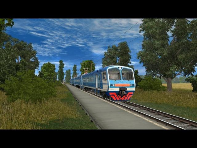 Поездка на ЭД9м-0093 в trainz 2012