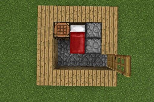 Вот схема простейшего домика