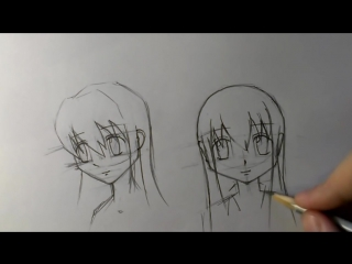 Как нарисовать аниме голову (YuraReshaet)