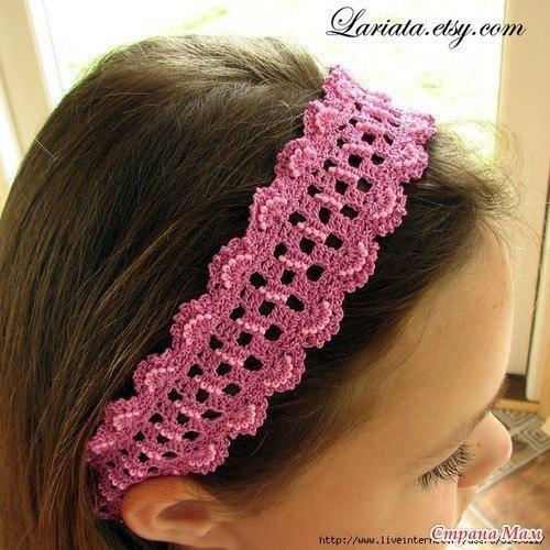 Delicadezas en crochet Gabriela: Diadema para niñas
