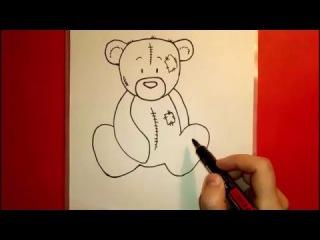 Как Рисовать Плюшевого Медведя Тедди How To Draw A Teddy Bear Teddy