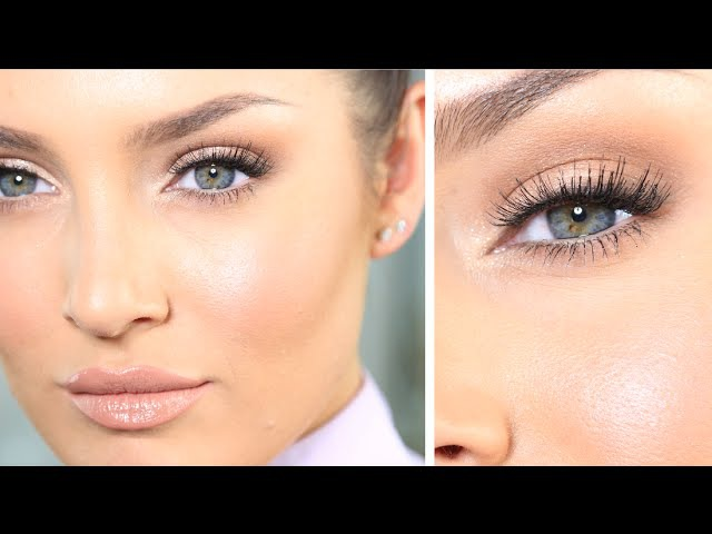 My 'JLo Glow' Neutral Eye Talk-Through Tutorial Outfit \\ Get Ready With Me!