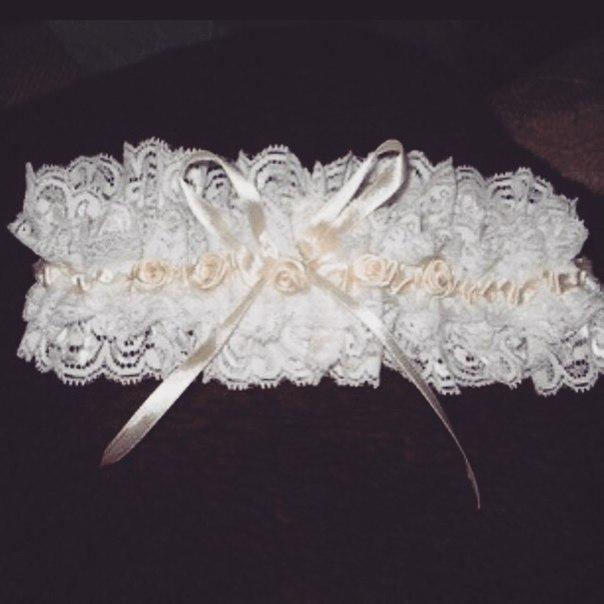 Как своими руками сделать подвязку для невесты