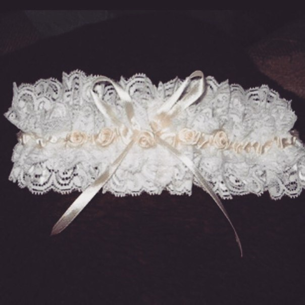 Своими руками лента на ноги невесты