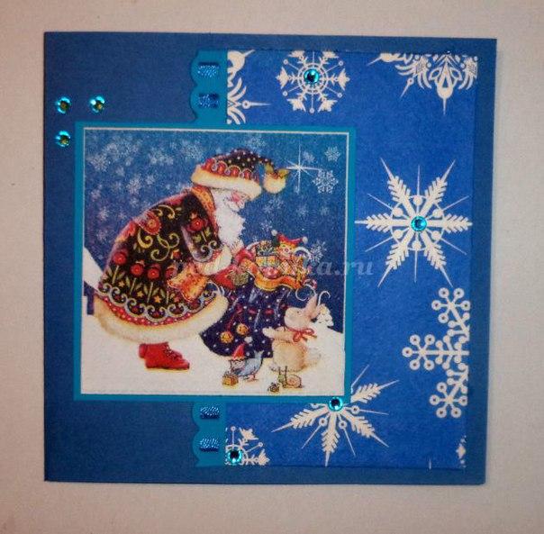 Новогодние открытки своими руками пошаговое фото