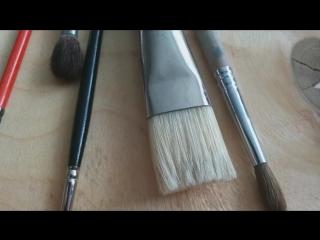 Кисти для живописи. Обзор.Brush for painting.