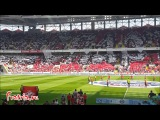 Футбол. Россия. Перфоманс на матче