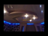 потолки и арки из гипсокартона и натяжного потолка с подсветкой