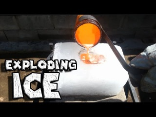 Molten Copper vs Ice Exploding Ice