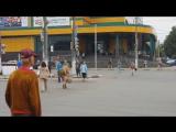 Тула. Пешеходный переход «для спортсменов» у ТЦ «Рио». 28.06.2015