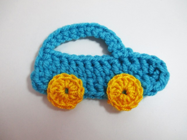 Crochet Car Applique Tutorial - Аппликация крючком Машинка - Aplicatie crosetata Masinuta