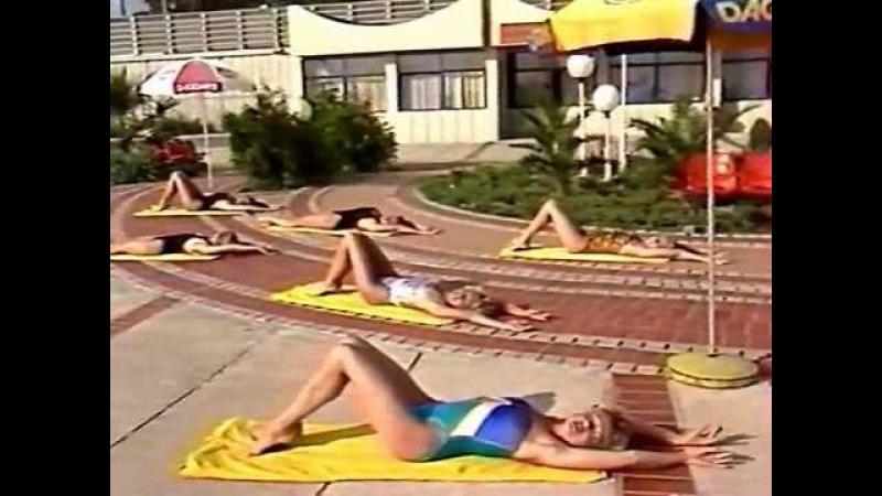 Rhythmic Gymnastics / Aerobics / Ритмическая гимнастика на море 1988-9 со Светланой Рожновой