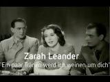 Zarah Leander - Ein paar Tr