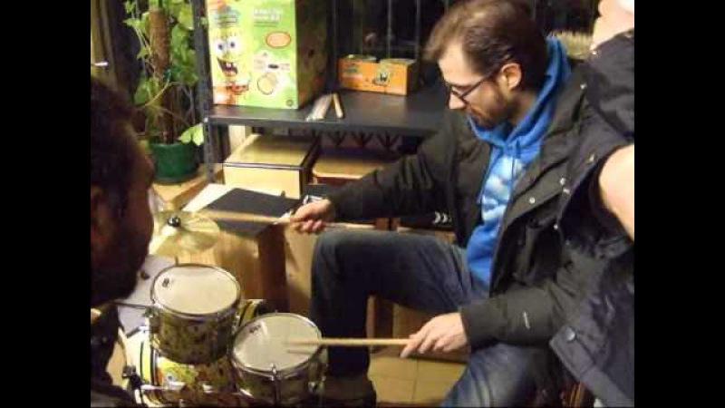 Benny Greb play Spongebob Drums!