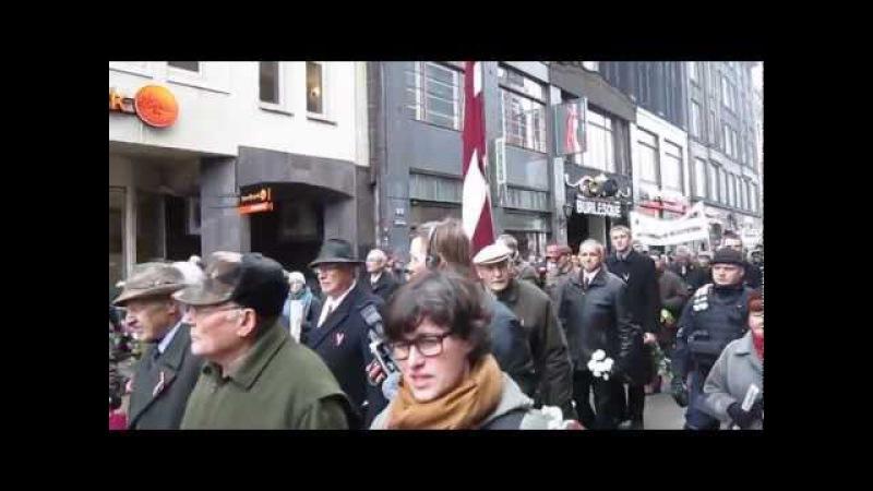 Дедушка троллит латышских нацистов Grandfather troll Latvian Nazis in Riga